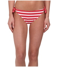 Gabriella Rocha Selene Side Tie Brief True Red Stripe Women's Swimwear