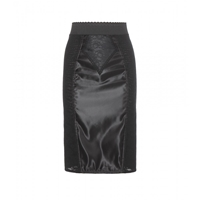Dolce And Gabbana Satin Pencil Skirt Black