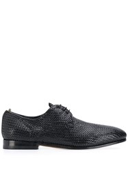 Officine Creative Flat Lace Up Shoes Black