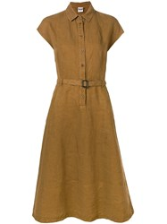 Aspesi Belted Shirt Dress Brown