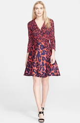 Diane Von Furstenberg 'Amelia' Print Cotton And Silk Wrap Dress Vintage Leopard