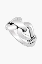 Lagos 'Derby' Buckle Ring Sterling Silver