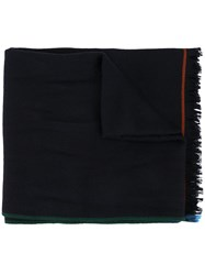 Loro Piana Four In Hand Cashmere Scarf Blue