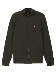 Lyle And Scott Zip Through Soft Shell Jacket Dark Sage
