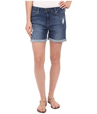 Liverpool Vickie Shorts W Destruction In Montauk Mid Blue Montauk Mid Blue Women's Shorts