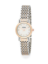 Catherine Malandrino Silvertone And Rose Goldtone Bracelet Watch Silver Rose Gold