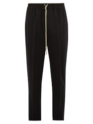 Rick Owens Astaires Drawstring Wool Trousers Black