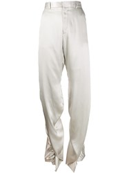 Y Project High Waisted Trousers Grey