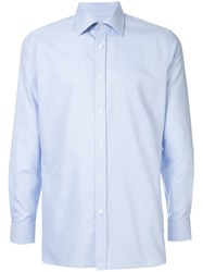 Gieves And Hawkes Chambray Shirt Blue