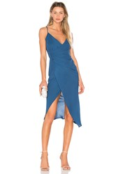 Donna Mizani Leona Hi Low Dress Blue