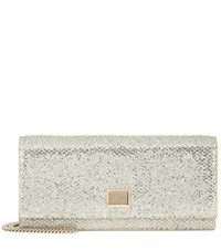 Jimmy Choo Lilia Glitter Clutch Metallic
