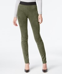 Inc International Concepts Petite Faux Suede Pull On Skinny Pants Fern Green