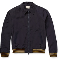 Band Of Outsiders Shell Bomber Jacket Blue