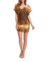Karen Kane Avalon Tunic Coverup Brown