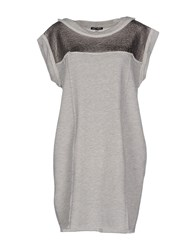 My T Shirt Dresses Short Dresses Women Grey