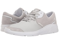 Supra Noiz Light Grey Full Grain Leather Stretch Canvas Men's Skate Shoes Gray