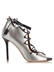 Malone Souliers Savannah Lace Up Leather Sandals Silver Multi
