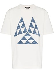 Calvin Klein 205W39nyc Triangle Print Cotton T Shirt White