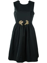 N 21 No21 Sequined Flared Dress Black