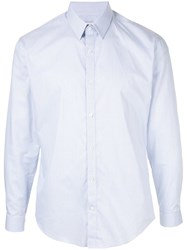 Cerruti 1881 Plain Button Shirt Blue