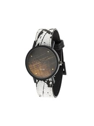 South Lane Avant Noir Watch Calf Leather Stainless Steel White