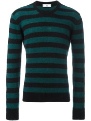 Ami Alexandre Mattiussi Striped Crew Neck Sweater Black