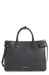 Burberry 'Medium Banner' Leopard Print Genuine Calf Hair And Leather Tote