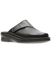 Clarks Women's Patty Tayna Mules Women's Shoes Black Leather