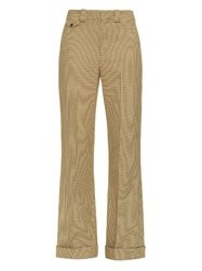 Chloe Low Rise Wide Leg Hound's Tooth Trousers