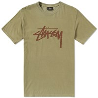 Stussy Pigment Dyed Stock Tee Green