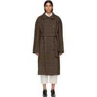 Christophe Lemaire Brown Double Breasted Coat