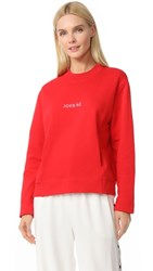 Jour Ne Crew Sweatshirt Red