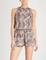 Missoni Wave Patterned Woven Playsuit Multi