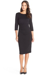 Donna Ricco Ponte Midi Dress Black