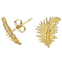 Dower And Hall Gold Feather Stud Earrings N A N A