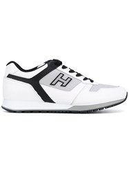 Hogan Lateral Logo Patch Sneakers Men Calf Leather Leather Nylon Rubber 10 White