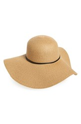 David And Young Women's Floppy Straw Sun Hat Brown Light Brown