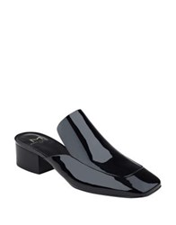 Marc Fisher Lailey Patent Leather Mules Black