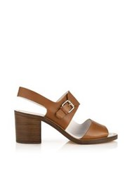 Paul Smith Leven Buckled Block Heel Sandal Tan