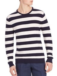 Polo Ralph Lauren Cashmere Blend Striped Tee Navy White