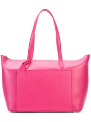 Smythson 'Panama East West' Tote Bag Women Leather One Size Pink Purple