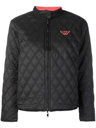 Emporio Armani Reversible Quilted Jacket Black