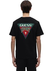 Guess Printed Triangle Graphic T Shirt Jet Black
