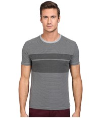 Original Penguin Short Sleeve Overprinted Feeder Stripe Tee Griffin Men's T Shirt Gray