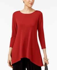 Alfani Petite High Low Jersey Tunic Top Created For Macy's Banner Red