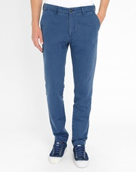 Knowledge Cotton Apparel Navy Linen Trousers