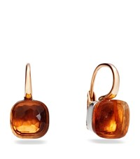 Pomellato Large Nudo Madeira Quartz Rose Gold Earrings Female