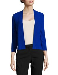 Ivanka Trump Diamond Stitched Cardigan Sweater Blue