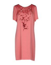 Via Delle Perle Vdp Collection Knee Length Dresses Pastel Pink