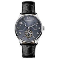 Ingersoll Men's The Hawley Automatic Date Heartbeat Leather Strap Watch Black Grey